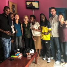 Flownet team visits Komboni radio. 2016.