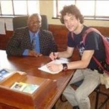 Veljko conducting an interview in Dwesa, South Africa.  2011