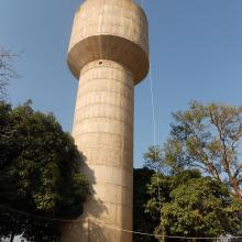 The water tower in Macha, Zambia where we installed VillageCell. 2012