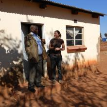 Mariya meeting the Chikanta chief. 2012