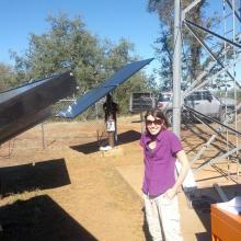 Morgan visiting a TDV wireless tower.  2014