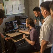 Danny working with the Mongolian National Railway.  July 2015
