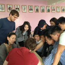 Danny and Michael leading a software training in Mongolia. July 2015